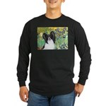 Irises & Papillon Long Sleeve Dark T-Shirt