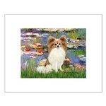 Lilies & fawn Papillon Small Poster