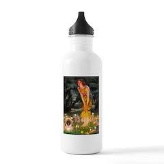 Fairies / Pekingese(r&w) Water Bottle