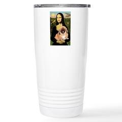 Mona / Pekingese(r&w) Travel Mug