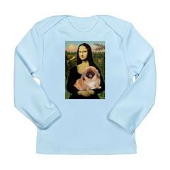 Mona / Pekingese(r&w) Long Sleeve Infant T-Shirt