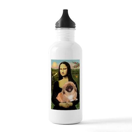 Mona / Pekingese(r&w) Stainless Water Bottle 1.0L
