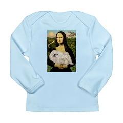 Mona /Pekingese (w) Long Sleeve Infant T-Shirt