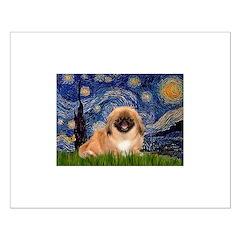 Starry / Pekingese(r&w) Posters