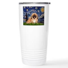 Starry / Pekingese(r&w) Travel Mug
