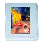Cafe /Pekingese (r) baby blanket