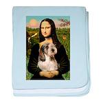 Mona Lisa / PBGV baby blanket