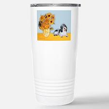 Sunflowers/PBGV Stainless Steel Travel Mug