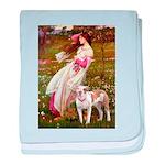 Windflowers / Pitbull baby blanket