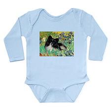 Irises / Pomeranian(bb) Long Sleeve Infant Bodysui