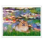 Lilies2/Pomeranian #4 Small Poster