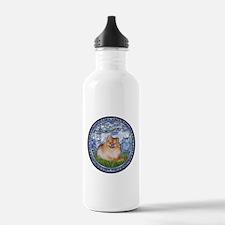 Lilies #6/Pomeranian #4 Water Bottle