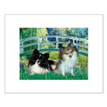 Bridge / 2 Pomeranians Small Poster