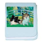 Bridge / 2 Pomeranians baby blanket