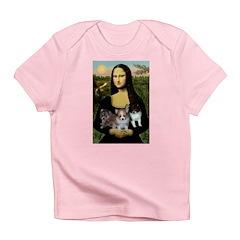 Mona Lisa/Pomeranians Infant T-Shirt