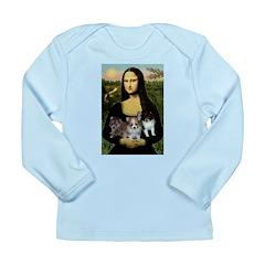 Mona Lisa/Pomeranians Long Sleeve Infant T-Shirt