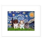 Starry Night /Pomeranian pups Small Poster