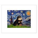 Starry Night / Pomeranian(b&t) Small Poster