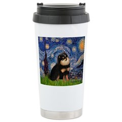 Starry Night / Pomeranian(b&t) Travel Mug