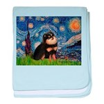 Starry Night / Pomeranian(b&t) baby blanket