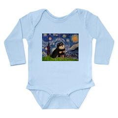 Starry Night / Pomeranian(b&t) Long Sleeve Infant