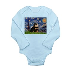 Starry Night / Pomeranian(b&t) Long Sleeve Infant