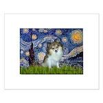 Starry Night /Pomeranian (p) Small Poster