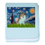 Starry Night /Pomeranian (p) baby blanket