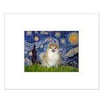 Starry / Pomeranian Small Poster