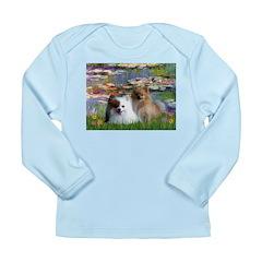 Lilies / 2 Pomeranians Long Sleeve Infant T-Shirt
