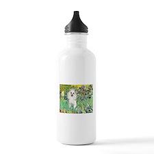 Irises / Poodle (w) Water Bottle