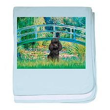 Bridge / Poodle (Black) baby blanket