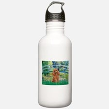 Lily Pond Bridge/Poodle (apri Water Bottle