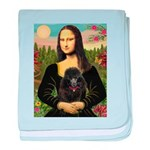 Mona / Poodle (bl) baby blanket