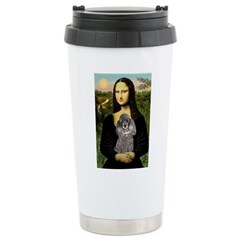 Mona / Poodle (s) Stainless Steel Travel Mug