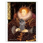 Elizabeth / Poodle (Silver) Small Poster