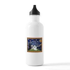 Starry Night / Poodle(w) Water Bottle