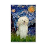 Starry / Poodle (White) Mini Poster Print
