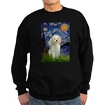 Starry / Poodle (White) Sweatshirt (dark)