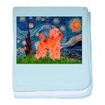 Starry / Poodle (Apricot) baby blanket