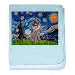Starry Night / Poodle (s) baby blanket