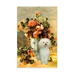 Vase / Poodle (White) Posters