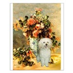 Vase / Poodle (White) Small Poster