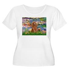 Lilies / Poodle (Apricot) T-Shirt