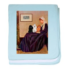 Whistler's / 3 Poodles baby blanket