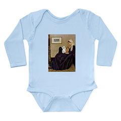 Whistler's / 3 Poodles Long Sleeve Infant Bodysuit