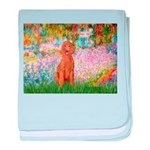 Garden/Std Poodle (apricot) baby blanket