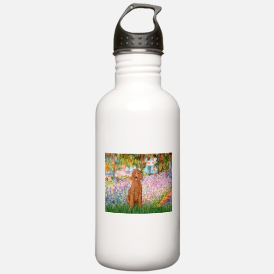 Garden/Std Poodle (apricot) Water Bottle