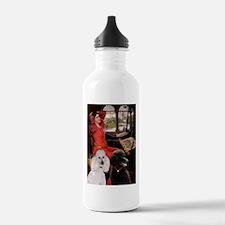 Lady / 2 Poodles (St) Water Bottle