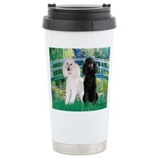 Bridge / Std Poodle (pr) Travel Mug